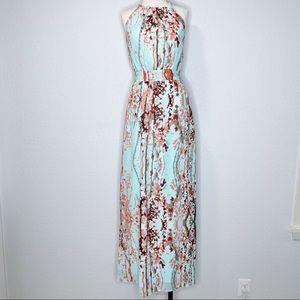 Jessica Simpson Cherry Blossom Halter Maxi Dress